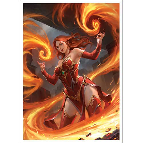 Keara Hayes - Fire Mage - 100 Matte Card Sleeves (FN12S)