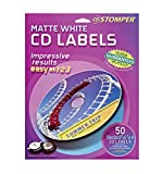 Avery CD Stomper Matte White CD Labels 98108, Pack of 50 (98108)