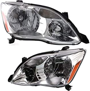 Headlight Assembly Compatible with 2005-2007 Toyota Avalon Halogen XL/XLS Models Passenger and Driver Side