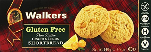 Walkers Shortbread Gluten-Free Ginger and Lemon Shortbread, 4.9 Ounce