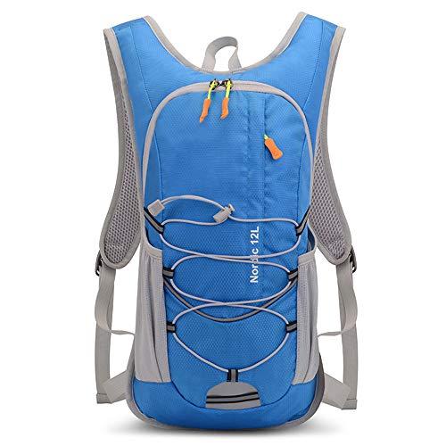 AJAC Rugzak voor fiets, waterdicht, nylon, voor wielrennen, hydraterend, sporttas, voor mannen en vrouwen, bergbeklimmen, lopen, klimmen, kamperen, wandelen, blauw
