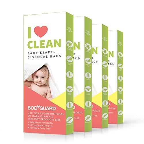 Sirona Babywindeln & sanitäre Entsorgung Taschen 100% OXO Biologisch abbaubare Leak-Proof Beutel (60 Beutel)