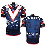 YAQA Gallo Camiseta De Rugby 2021 Versión Nativa Camiseta, Los Aficionados Camiseta De Fútbol Camisa Deporte Casual T-Shirt Top Blue-XXL