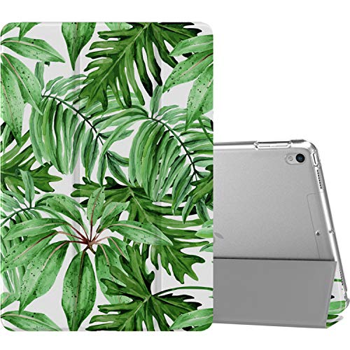MoKo Case Fit New iPad Air (3rd Generation) 10.5' 2019/iPad Pro 10.5 2017, Slim Lightweight Smart Shell Stand Cover with Translucent Frosted Back Protector (Auto Wake/Sleep) - Jungle