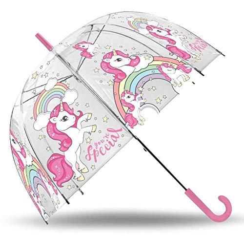 Paraguas Unicornio Transparente 69cm