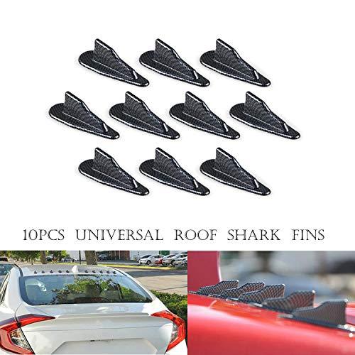Haifischflossenspoilerflügel - MASO Universal EVO-Style PP Dach Haifischflossen Spoiler Flügel Kit Vortex Generator 10 Stück