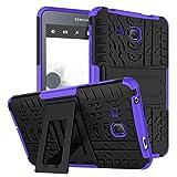 XITODA Samsung Tab A 7.0 Carcasa,Funda para Galaxy Tab A6 7 Hybrid Armor Cover Tough Carcasa Case para Samsung Galaxy Tab A 7.0 Pulgadas 2016 SM-T280/T285 Funda Protección con Kickstand - Púrpura