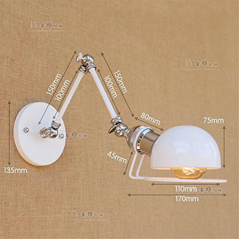 StiefelU LED Wandleuchte nach oben und unten Wandleuchten Extra langer Arm 3-teiliges Teleskoprohr Eisen Lampe Dekoration ist Leiter der franzsischen Café card LED WANDLEUCHTE, WEISS