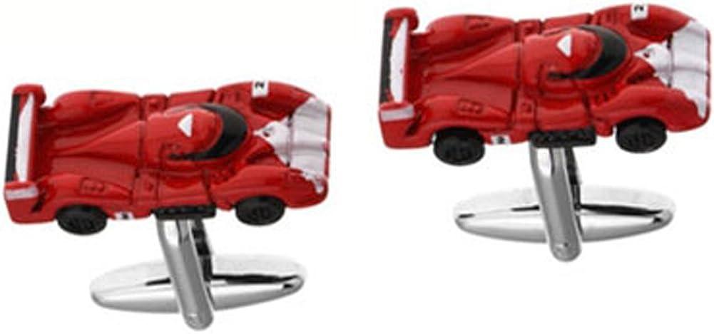 Williams & Clark Mens Executive Cufflinks Transportation Collection Red Enamel Aerodynamic Race Car Cuff Links