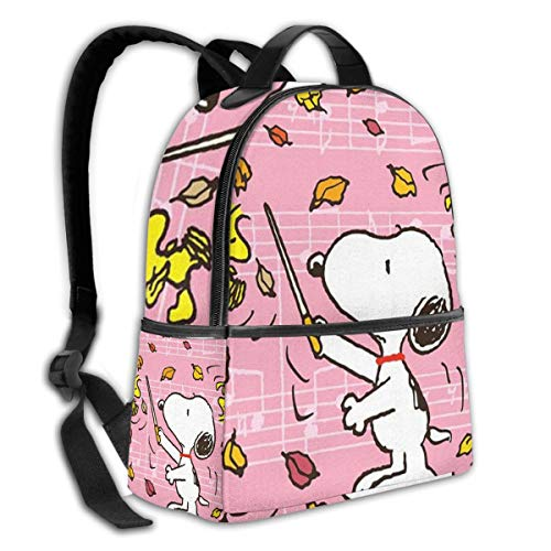 Commander Snoopy Black Backpack Zipper School Bag Travel Daypack Unisex Adult Teens Gift