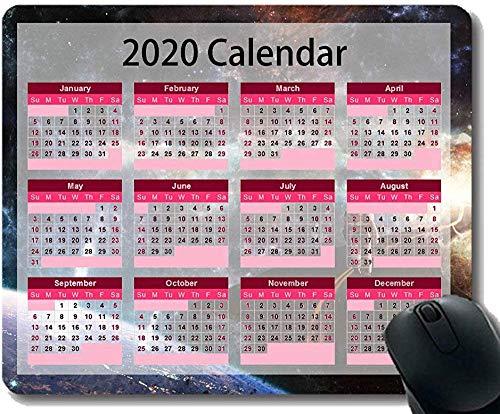 Bunte Kalender-Mausunterlage des Jahr-2020 30 * 25 * 0.3cm Raum-Astronauten-Planeten-sternenklarer Himmel-Galaxie-Straßen-themenorientierte Büromausunterlage 30 * 25 * 0.3cm