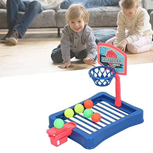 Mini juego de descompresión de baloncesto Gadget Toy, interacción entre padres e hijos Fácil de montar sobre la mesa Mini juego de tiro de baloncesto Juguetes para oficina, escritorio, hogar(blue)