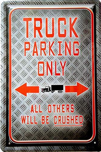 Tin Sign Cartel de chapa de 20 x 30 cm, para decoración de pared, garaje, taller, camión, aparcamiento, coleccionista, regalo