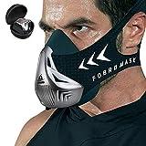 FDBRO Máscara de Entrenamiento Workout Mask Fitness, Running,Resistencia, Cardio, Máscara de Ejercicio para Entrenamiento y Acondicionamiento de Gran Altitud (Plata)