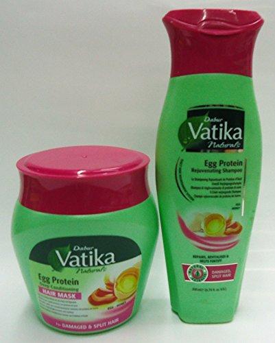 VATIKA EGG PROTEIN DEEP CONDITIONING HAIR MASK &EGG PROTEIN REJUVENATING SHAMPOO