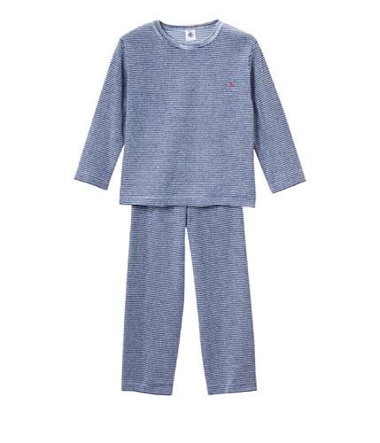 Petit Bateau Jungen Pyjama 30789, Gr. 104 (4 Jahre, FR 102cm), Mehrfarbig (SHORE/SOURICEAU 28)