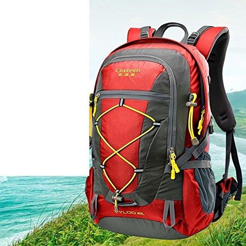 Sincere® Package / Sacs à dos / Portable / alpinisme Ultraléger extérieur sac à dos / Voyage / équitation ultra-léger sac à dos rouge 40L