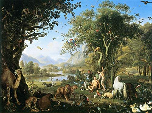 Home Comforts Wenzel Peter - Adam and Eve in The Garden of Eden 1.Poster, 24 x 36