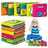 MOOKLIN ROAM 6 Piezas Libro de Tela Blandos para Bebé, Libros De Suave Sensoriales, Aprendizaje y Educativo Libro para Bebé Recién Nacido Niños