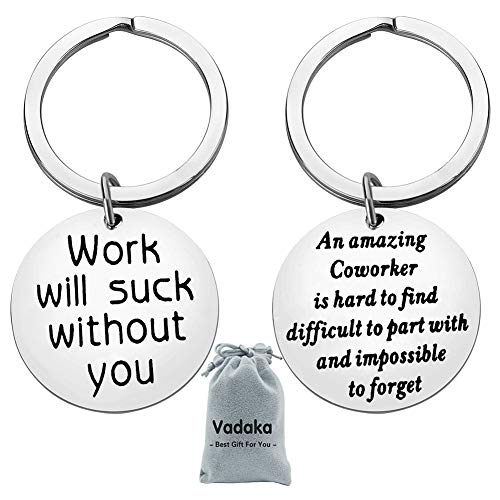 Coworker Leaving Gifts for Colleague Friends Boss Goodbye Farewell Gifts Going Away Thank You Keychain for Coworkers Office Gifts Work Friend Gift(2 PACK)