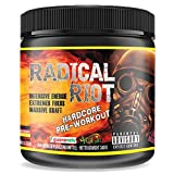 Pre Workout Booster Radical Riot V3-340 g I Fitness Booster I Trainingsbooster I Bodybuilding I Energie Drink I Fokus (Peach Ice Tea - Pfirsisch Eistee) -
