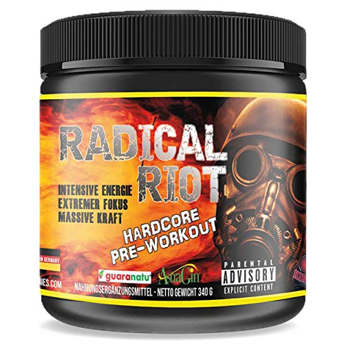 Pre Workout Booster Radical Riot V3-340 g I Fitness Booster I Trainingsbooster I Bodybuilding I Energie Drink I Fokus (Cherry)