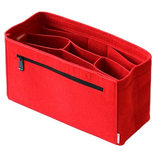 Classic Slash Taschenorganizer Filz Medium für Neverfull PM Kanken Classic Le Pliage M für Taschen ab 27cm Innenmaß I Rot