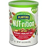 NUT-rition Heart Healthy Nut Mix (18.25 oz Can) - Variety Nut Mix with Peanuts, Almonds, Pistachios, Pecans, Walnuts, Hazelnuts & Sea Salt