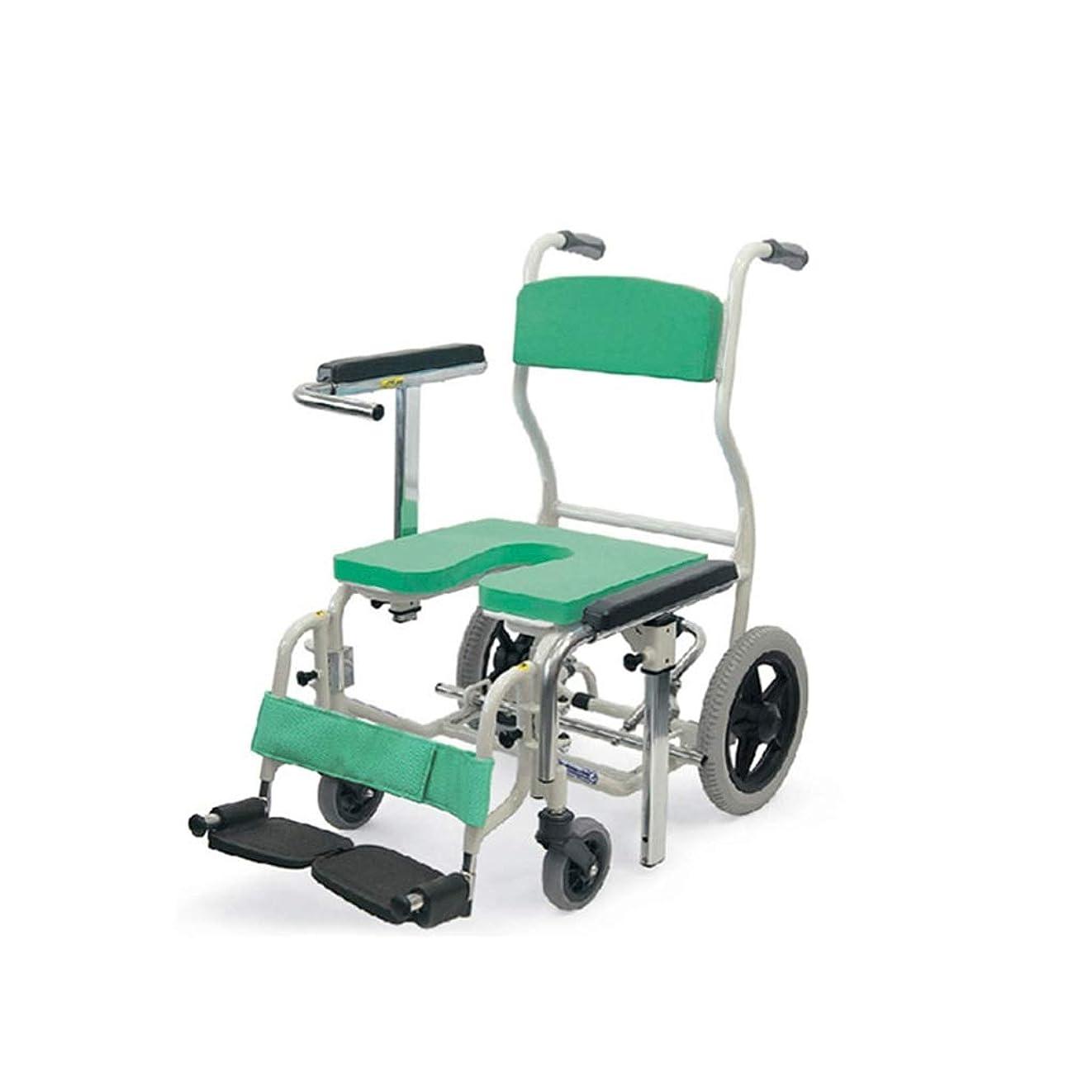 調和相続人あらゆる種類の風呂 椅子 調節可能な高さのアームレストが付いている年配の滑り止めのアルミ合金の浴室の椅子の入浴車椅子 DZHJXFCL