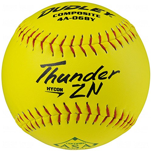 Dudley ASA Thunder Hycon Zn Comp Slow Pitch 12 Softballs 12 Ball Pack
