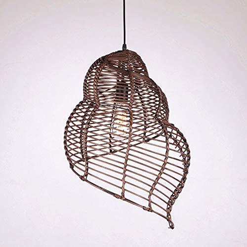 Interieur Decoratieve Lamp Opknoping Bulk Bamboe Camera Wijnstok Chucking Lamp Cover Kroonluchter E27 Lamphouder Verstelbare Restaurant Balkon Rieten Lampenkap Ideeën