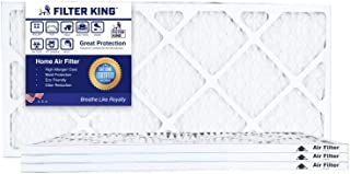 Filter King 8x20x1 Air Filters | 4 Pack | MERV 8 HVAC Pleated AC Furnace Filters, Protection Against Mold and Pollen, Allergen Reduction, Increases Air Quality