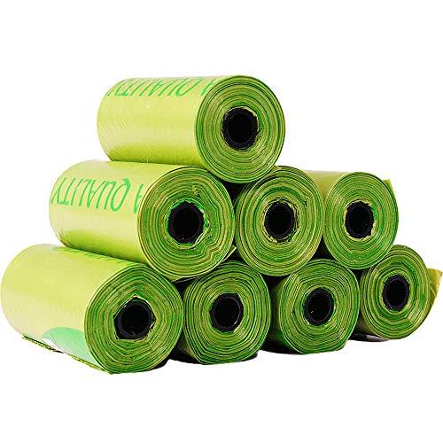 YH Bolsas de Caca de Perro compostables Bolsa de Basura para Perros Biodegradable de 120 Cuentas Bolsa de Basura para Perros y Gatos
