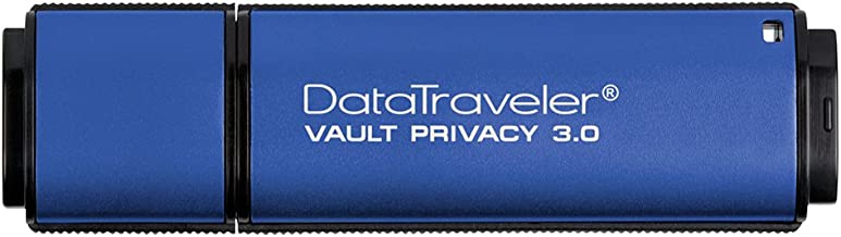 Kingston Digital 16GB Data Traveler AES Encrypted Vault Privacy 256Bit 3.0 USB Flash Drive (DTVP30/16GB)
