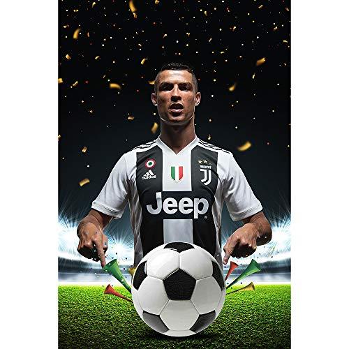 Earendel Superstar Cristiano Kommt! Ronaldo Tritt Juventus-Denkmal HD An Poster Fans Dekoration Sport Wandaufkleber