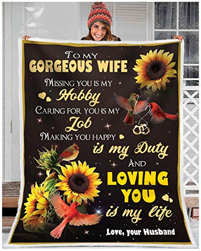 """Gray Granite Cardinals to My Gorgeous Wife Loving You FGDE (50""""x60"""")"""