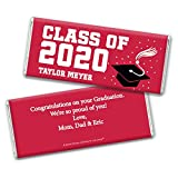 Graduation Party Favors (25 Wrappers) DIY Personalized Wrappers for Hershey's Candy Bars - Red
