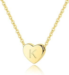 M MOOHAM Heart Initial Necklace for Women - 16