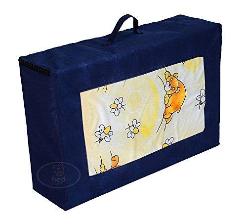Best For Kids Matratze für das Reisebett 120 x 60 x 6 cm inkl.Transporttasche Kinder-Rollmatratze Kindermatratze mit TÜV, Reisebettmatratze mit Tragetasche