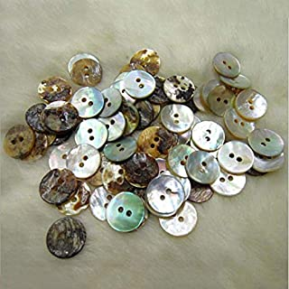 100PCS New 10mm Natural Shell Sewing Buttons Color Mother of Pearl Round Shell 2 Hole Button