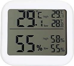 Gonnely Termómetro Digital Temperatura Medidor de Humedad Sensor de Calibre Pantalla LCD Termómetro para el hogar Interior