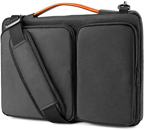 PDD 360 Protective Laptop Shoulder Bag for 15.6 Inch Acer Aspire 3/5/7 Laptop, HP Pavilion 15.6, Dell Inspiron 15 3000, 15.6 ASUS ROG Zephyrus, Waterproof Accessory Case (Black,15.6 Inch)