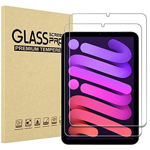 ProHülle 2 Stück Schutzglas Bildschirmschutzfolie für iPad Mini 6th 8.3 Zoll 2021 (Modell: A2567 /A2568 /A2569) Bildchirmschutzfolio Schutzfolio Screen Protector, Tempered Glass –Klar