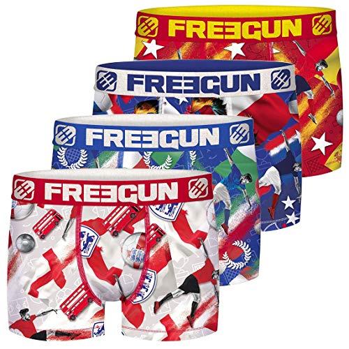 FREEGUN Lot De 4 Boxer Microfibre Pantaloni, Multicolore (Multicolor G9), X-Large (Pacco da 4) Uomo