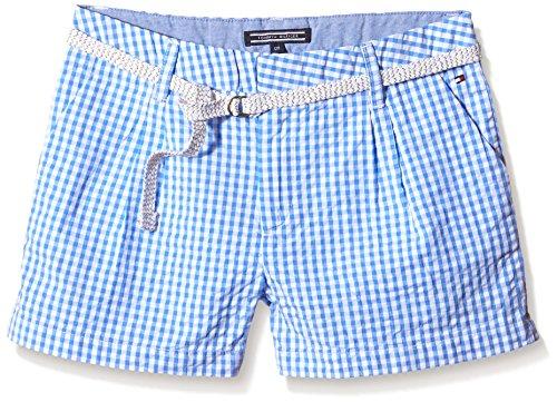 Tommy Hilfiger Mädchen Monica Gingham Short, Blau (Blue Bonnet 405), 176 (Herstellergröße: 16)