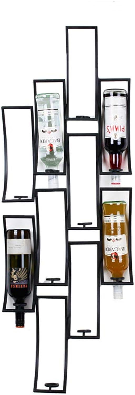 Envío y cambio gratis. LXLA- Simple Montado En La Parojo 10 10 10 Botellas Wine Rack Display Stand Hierro De Pie Libre Wine Holder Storage Shelf (Color   Negro)  orden ahora con gran descuento y entrega gratuita