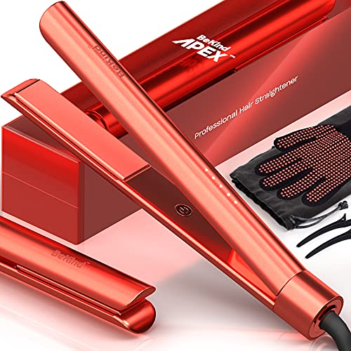 Bekind Apex 2-in-1 Hair Straightener Flat Iron, Straightener and Curler for All Hairstyles, 15s Fast Heating, Temperature Memory, Gift for Girls Women - Limited Edition Living Coral
