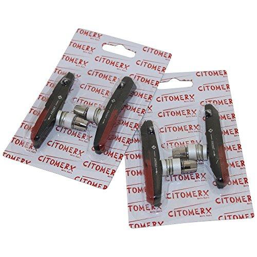 2 Paar Fahrrad Bremsbeläge, Bremsklötze, Bremsschuhe CMX 72mm schwarz/Two Tone für Shimano XTR, Deore XT V-Bremsanlage