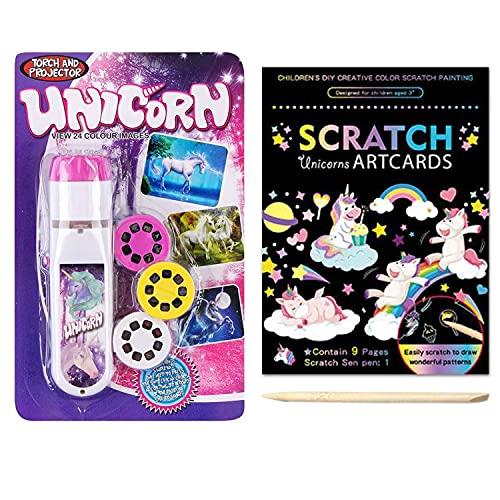Georgie Porgy Scratch Art Torch Projectors Set, DIY Arts and Crafts Kits for...