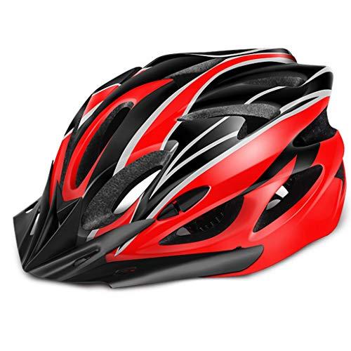YUEMS Fietshelm Geïntegreerde Mannen En Vrouwen Racefiets Mountainbike Fiets Helm Rijuitrusting Helm Zwart Rood Gestroomlijnd